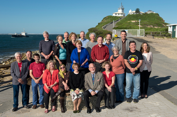 Radical Newcastle writers and editors at Newcastle lighthouse
