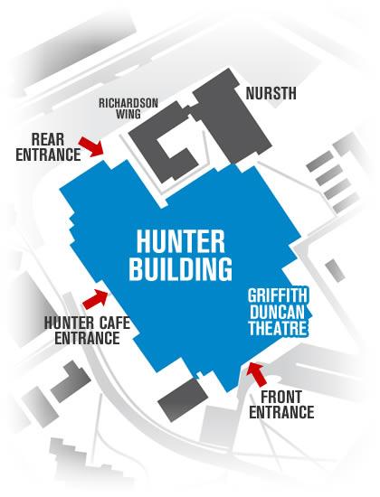 Navigating the Hunter Building