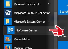 Windows 10 software center