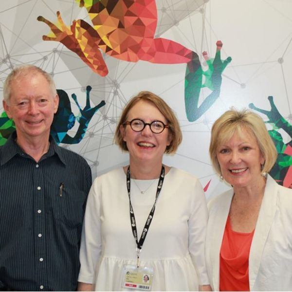 Dr Colin James, Mrs Sher Campbell and Dr Lynne McCormack