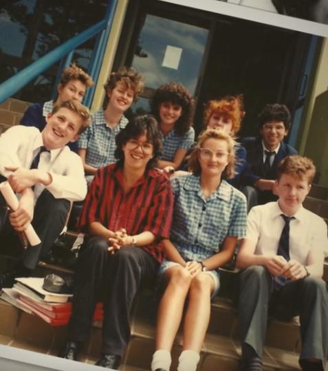 Karen Thrift with her students