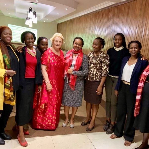 Professor Randell with Council members of the Rwanda Association of University Women