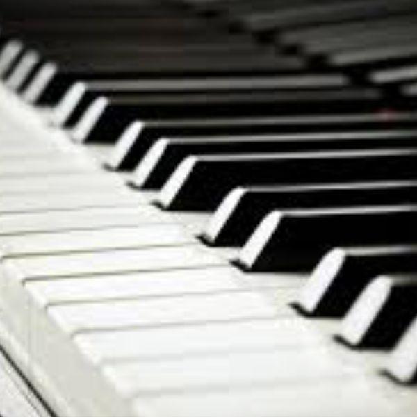 Image of closeup piano keyboard