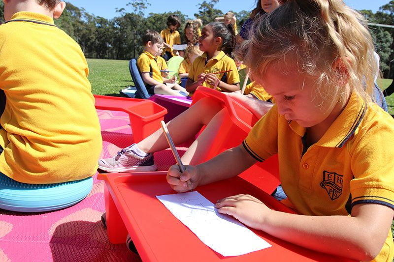 Edgeworth Heights Public School students  writing letters