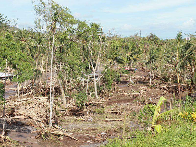 Impact of Cyclone Evan in Samoa