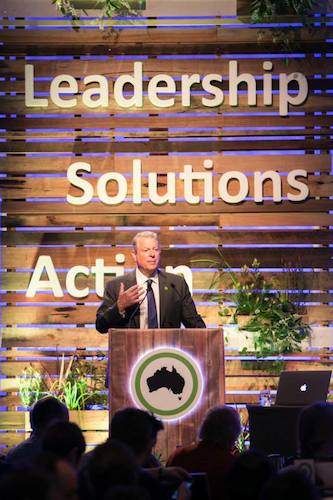 Al Gore inspires over 300 attendees for the Climate Reality Project