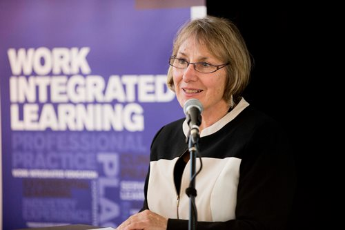 Judie Kay at the 2014 Work Integrated Learning Student and Staff Awards Ceremony