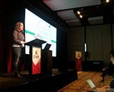 Sally Baker presenting at UniSTARS conference