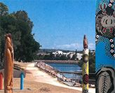 Image of Throsby Creek with Indigenous artwork
