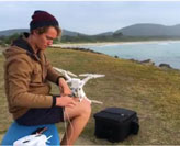 Student's drone delivery video makes a real splash