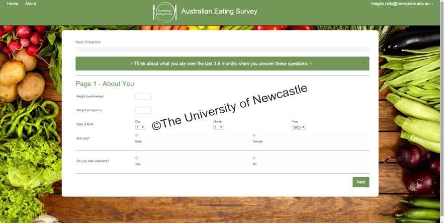 Australian Eating Survey / Physical Activity and Nutrition