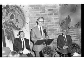 Amalgamation press conference 1989