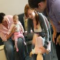 Medical students assist with demonstrating Basic First Aid to Playgroup participants