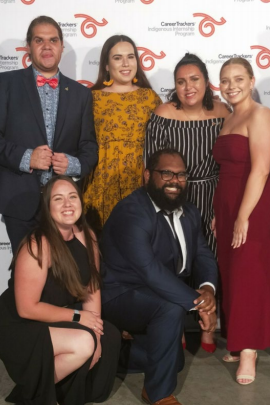 Jenna and other UoN students at the CareerTrackers Gala Dinner