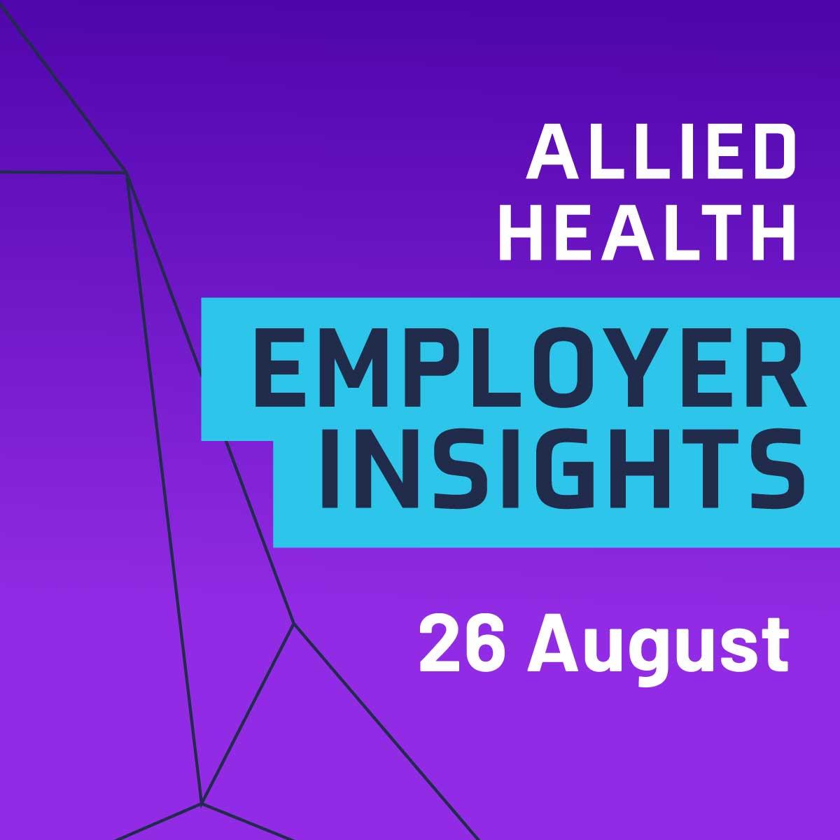 Allied Health Employer Insights