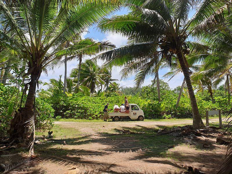 Truck in the Cook Islands