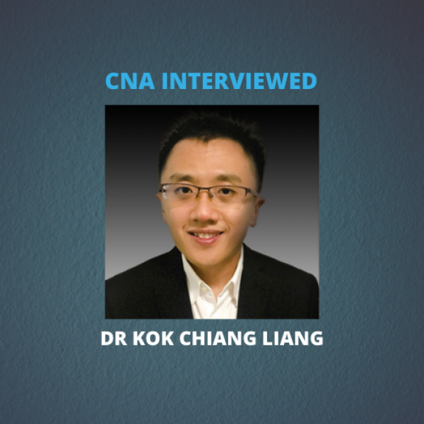 The Channel News Asia (CNA) interviewed Chiang Liang