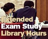 Study longer with extended Library hours