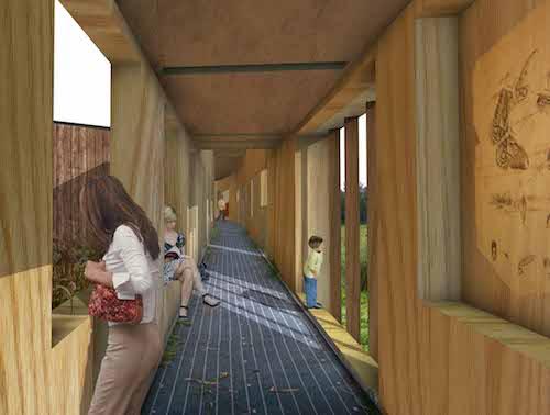 Sacha's work - corridor