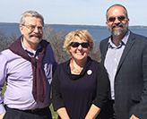 Geoff Whitty, Belinda Munn and Peter Radoll in Wisconsin