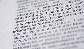 dictionary definition of education