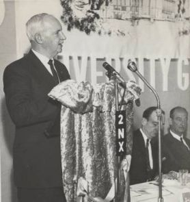 Frank Purdue at the Great Hall appeal dinner, 1966.