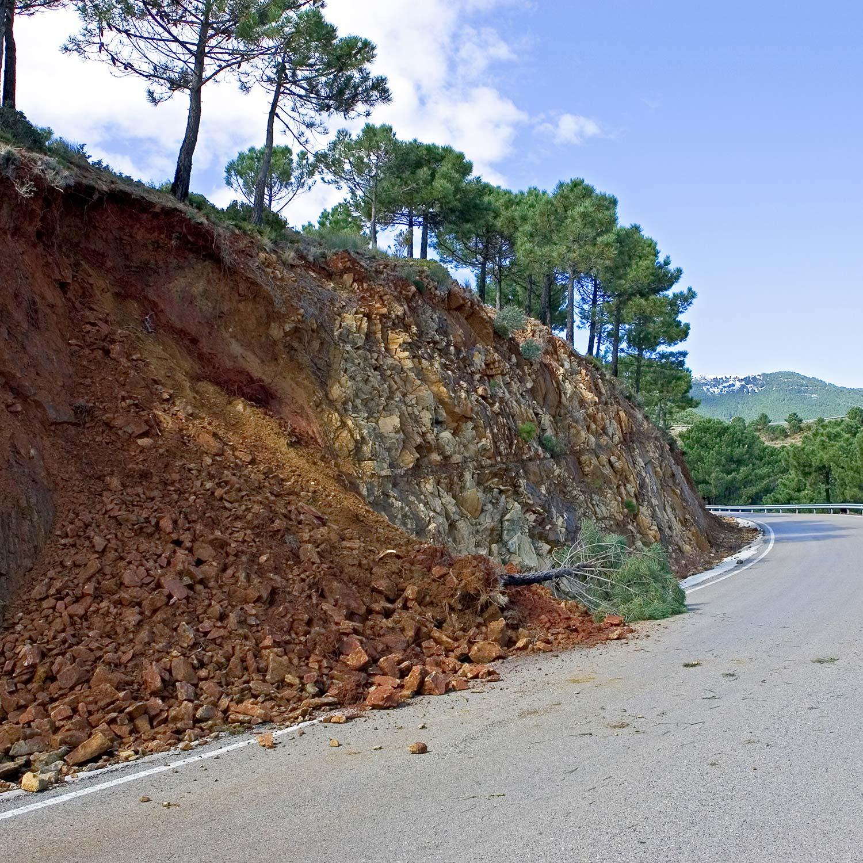 Road Hazard Landslide