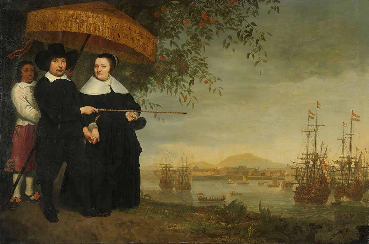 'A VOC Senior Merchant and His Wife', Aelbert Cuyp, circa 1641. Rijksmuseum, Amsterdam, Netherlands, SK-A-2350