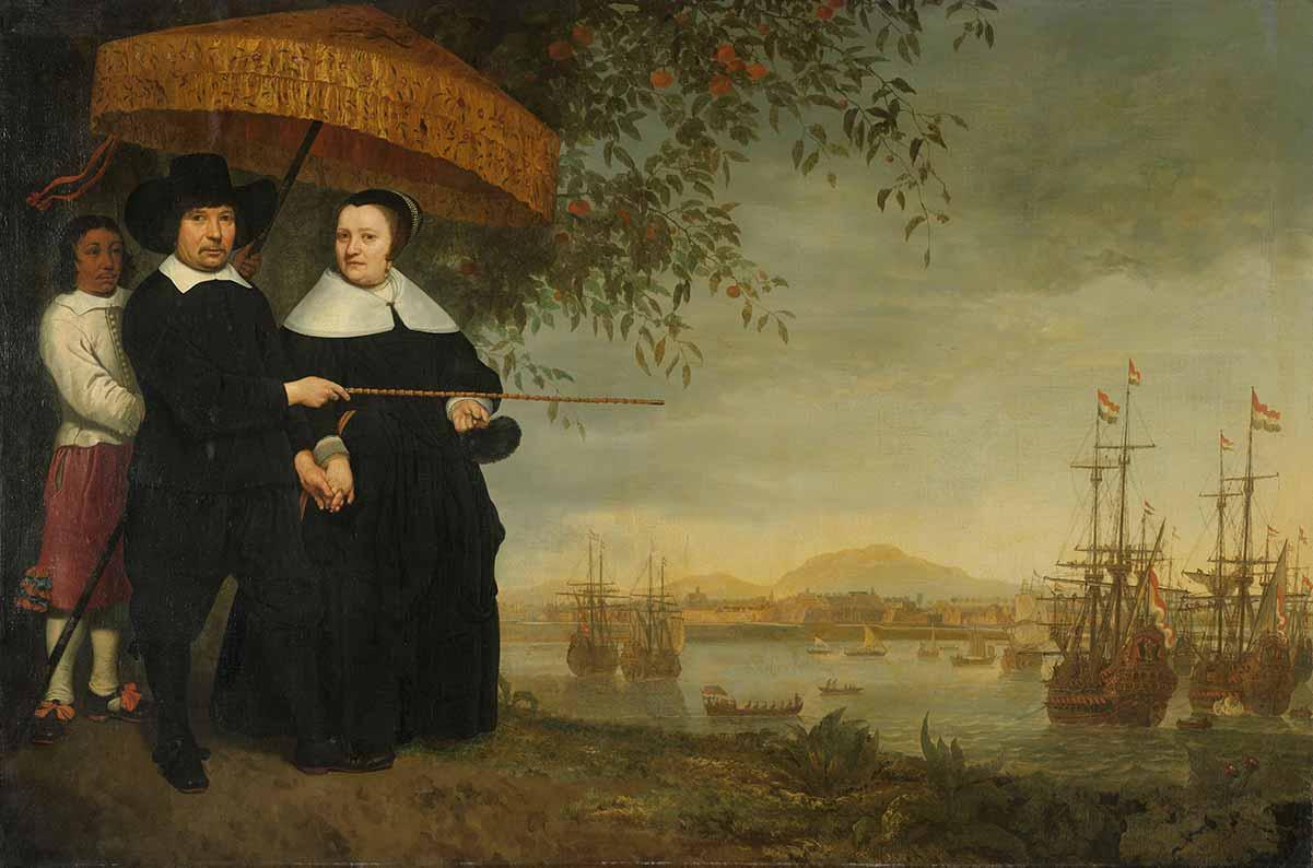 'A VOC Senior Merchant and His Wife', Aelbert Cuyp, circa 1641. Rijksmuseum, Amsterdam, Netherlands, SK-A-2350