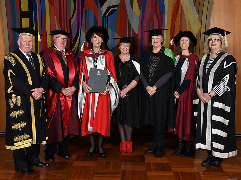 Geraldine Doogue receives an honorary doctorate