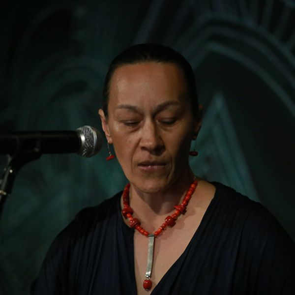 Janette Hoppe performing at Cuplet