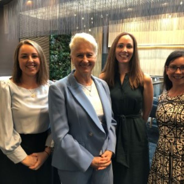 Elley Walmsley EMBA, Professor Kerryn Phelps AM, Samantha Bremmell WiMBA and Susan Hood Empower Network.