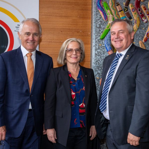 Malcolm and Lucy Turnbull with Alex Zelinsky