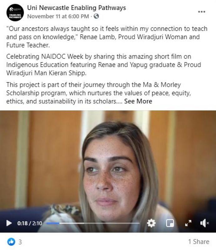 Ma Morley social media post