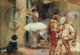 Backstage at the circus 1890