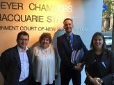 Tony Brown & Criss Moore from the community group and Natasha Hammond & Mark Seymour, our pro bono barristers.