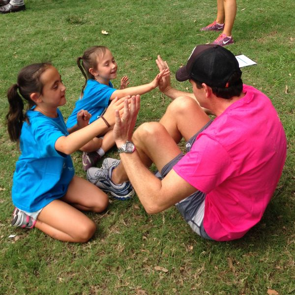 Dads and Daughters Exercise Program stretches to London