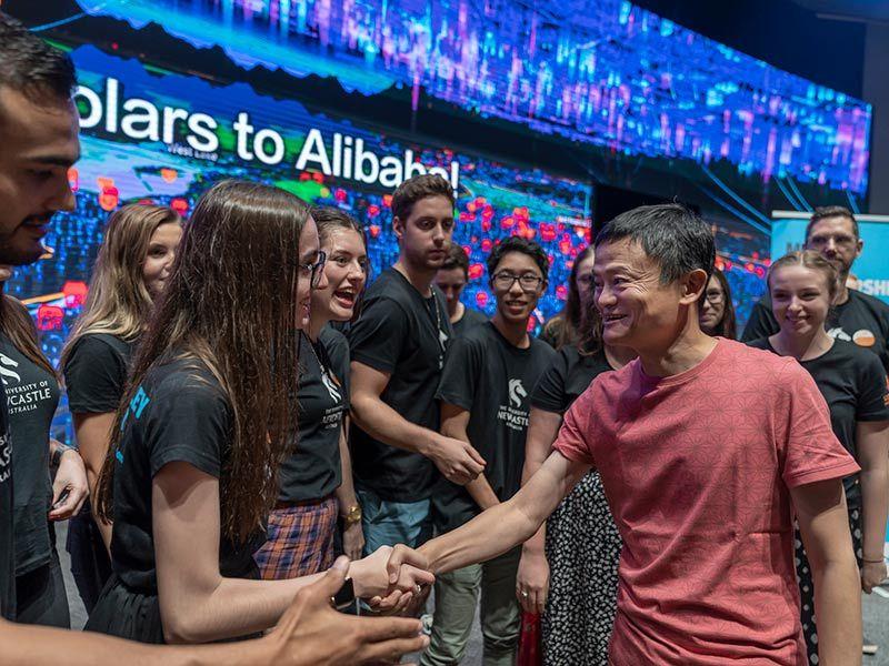Students meet Jack Ma at Alibaba