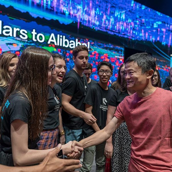 Students meet Jack Ma at Alibaba