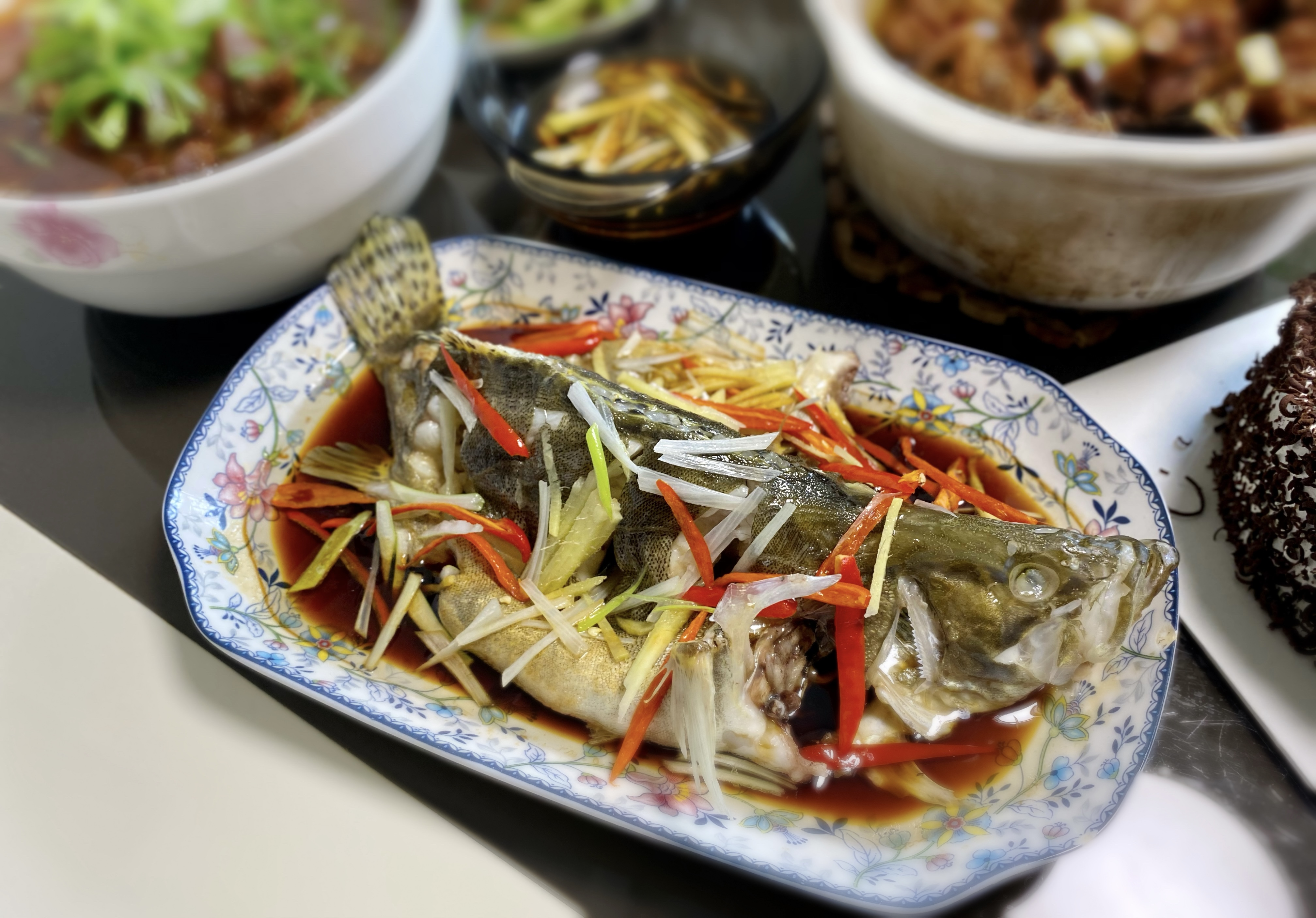 Steamed Perch Fish