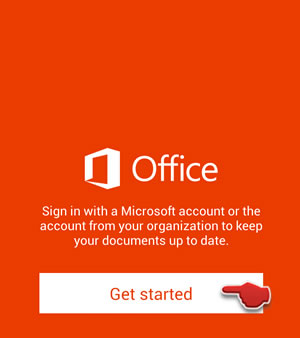 Get started with Office