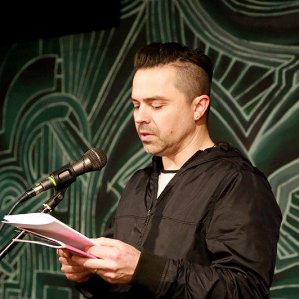 Gareth Jenkins performing at Cuplet