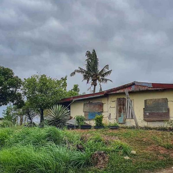 House in Fiji in cyclone