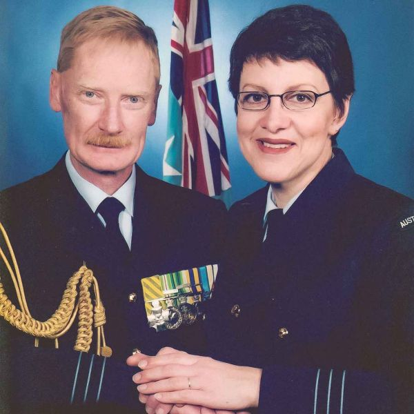 The late Krista and David in their Royal Australian Air Force uniform