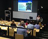 Professor Cameron delivering her public lecture