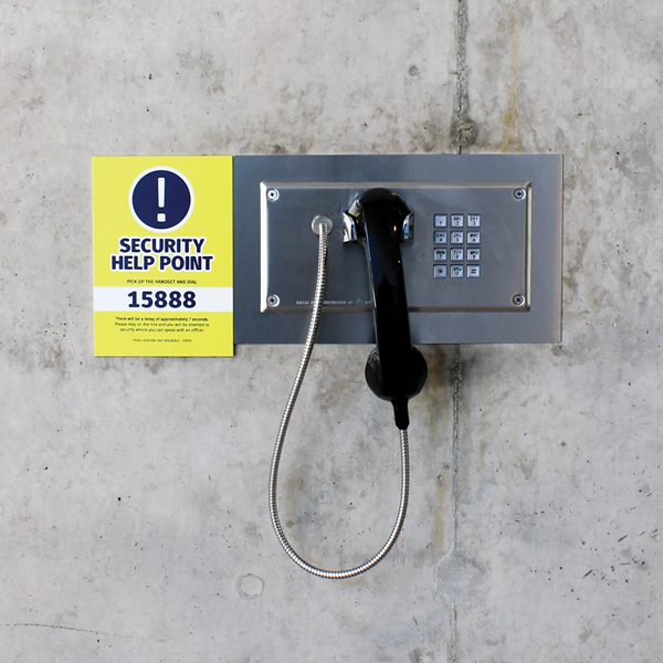 Student accommodation wall mounted phones