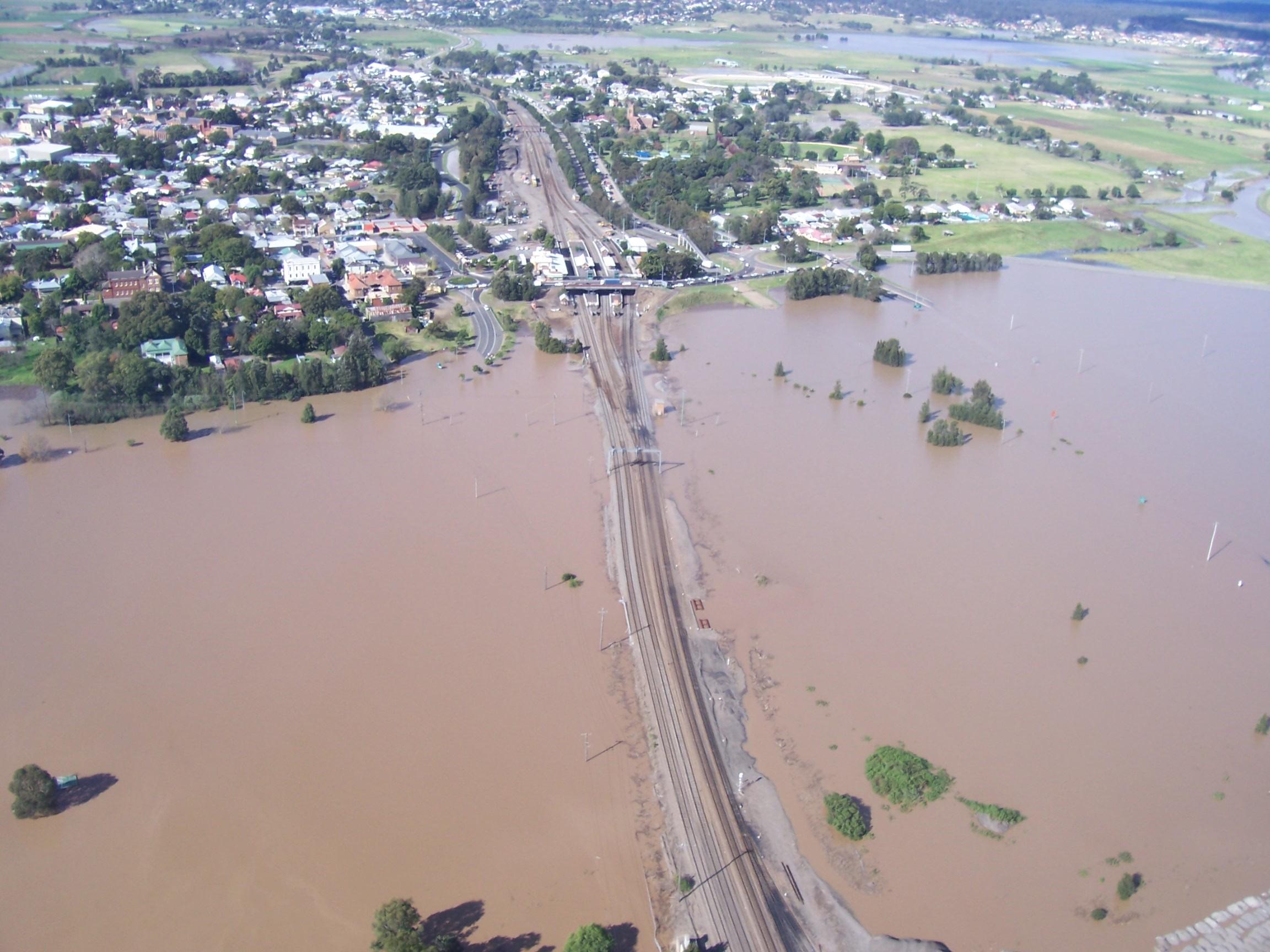 Maitland railway flood image
