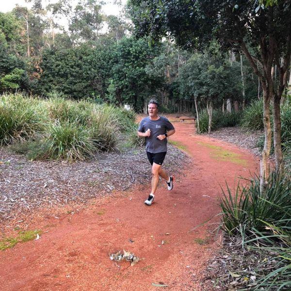 Michael Ulph training for the Ikara-Flinders Ranges Challenge trek