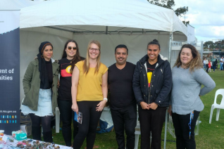 Jenna with her colleagues from the Department of Communities, Western Australia at the Perth NAIDOC event.