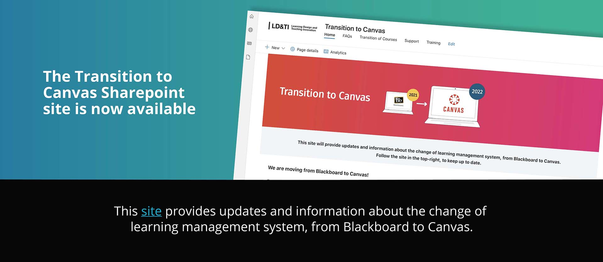 Transition to Canvas - Sharepoint site
